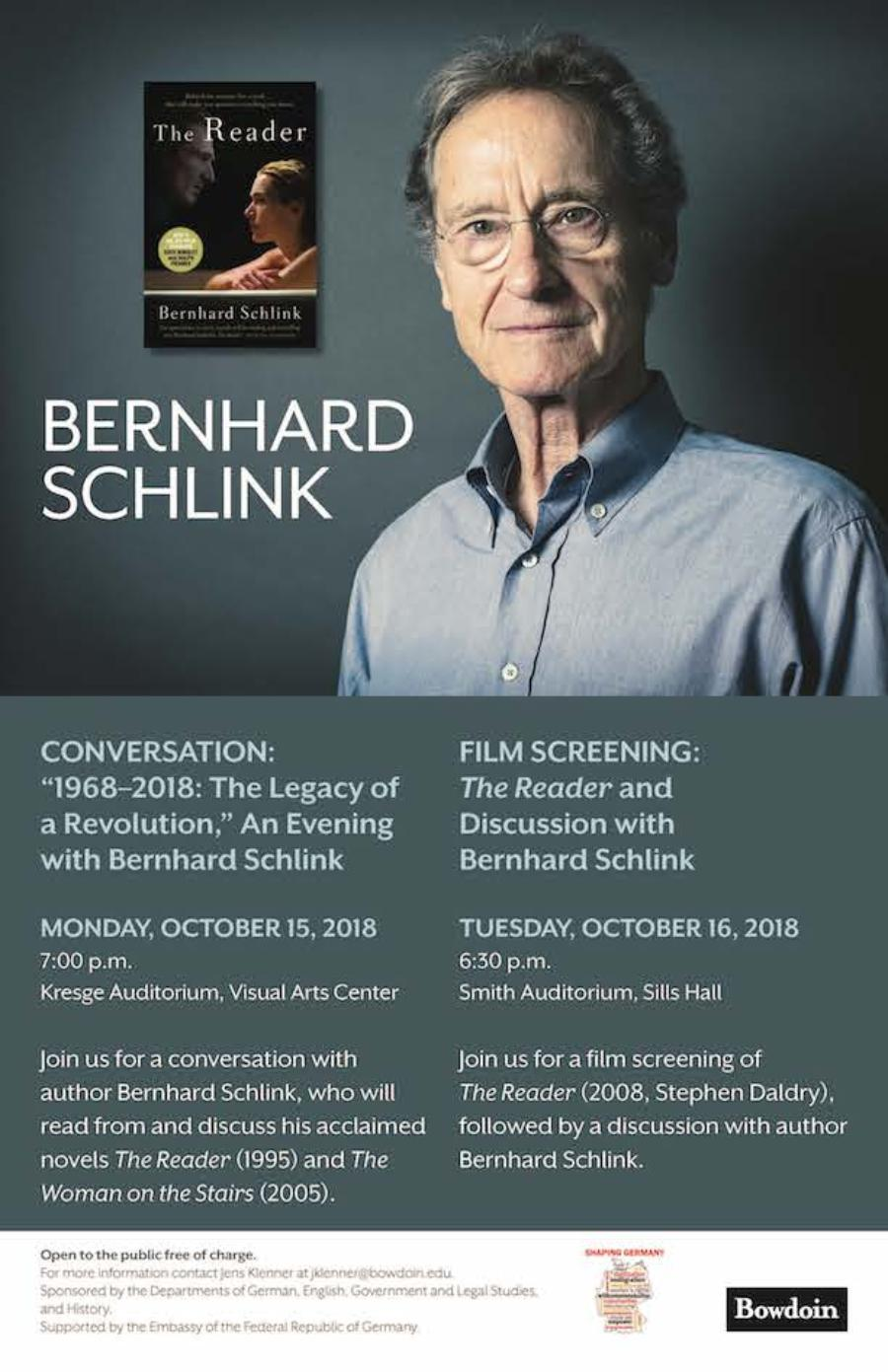 The Reader: Film Screeing and discussion with Bernhard Schlink