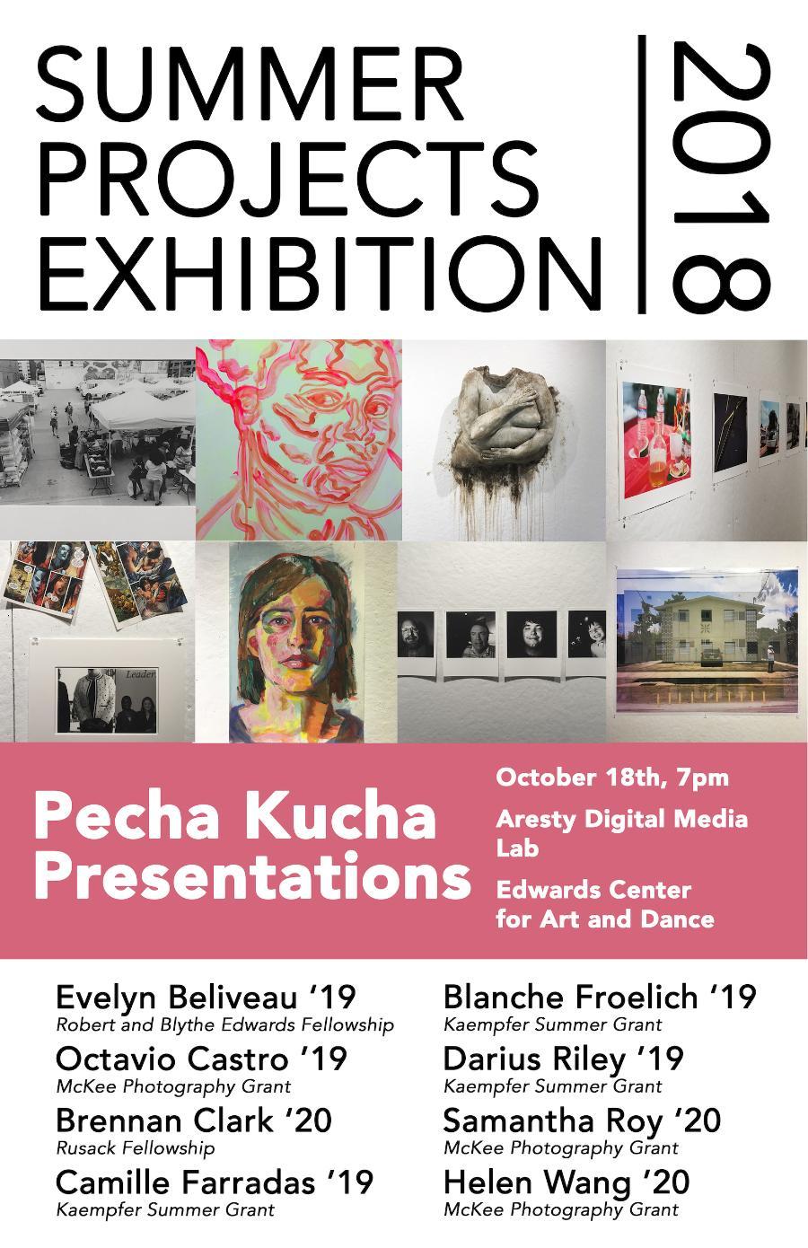Pecha Kucha Night with McKee Photography Grant and Kaempfer Summer Art Grant Recipients